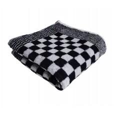 Keukenhanddoek badstof geblokt 50 x 50 cm, kleur zwart/wit (pak 10 stuks)