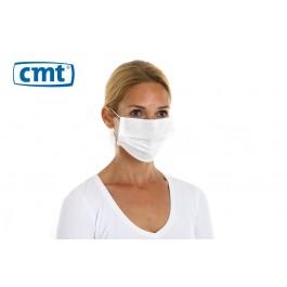 CMT Chirurgisch mondmaskers met oorelastiek, 3-laags, kleur wit (dispenser 50 stuks)