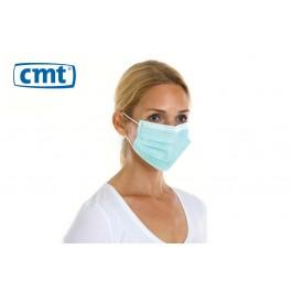 CMT Chirurgisch mondmaskers met oorelastiek, 3-laags, kleur groen (dispenserdoos 50 stuks)