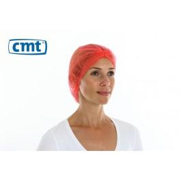 Haarnetjes ClipCap wokkel, kleur rood, maat XL (doos 10 x 100 stuks)