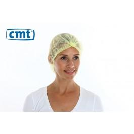 CMT Haarnetjes ClipCap wokkel, kleur geel, maat XL (doos 10 x 100 stuks)