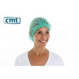 CMT Haarnetjes ClipCap wokkel, kleur groen, maat XL (doos 10 x 100 stuks)