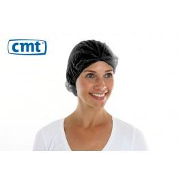 CMT Haarnetjes ClipCap wokkel, kleur zwart, maat XL (doos 10 x 100 stuks)