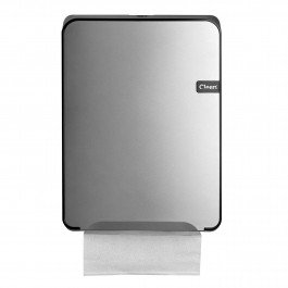 CLEEN Quartz Vouwhanddoekdispenser | kleur zilver/zwart