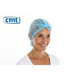 Detecteerbare Haarnetjes ClipCap wokkel, kleur blauw, maat XL (doos 10 x 100 stuks)