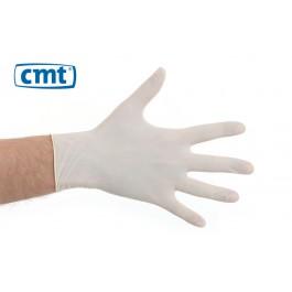 CMT Latex onderzoekshandschoenen gepoederd, kleur naturel (doos 10 x 100 stuks)