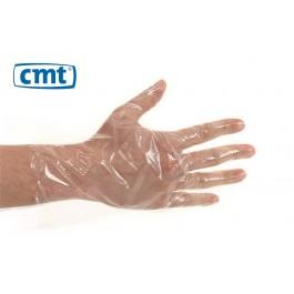 CMT Tankhandschoen PE geruwd in dispenserdoos (doos 100 x 100 stuks)