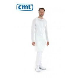 CMT Scheurschort PE op blok, 125 x 80 cm, 20 my, kleur wit (doos 10 x 100 stuks)
