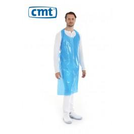 CMT Schort PE op rol 125 x 80 cm, 20 my, kleur blauw (doos 5 x 100 stuks)