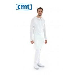 CMT Schort PE op rol 125 x 80 cm, 20 my, kleur wit (doos 5 x 100 stuks)