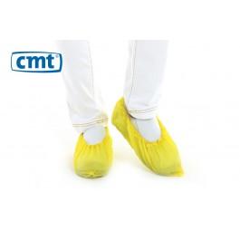 CMT Schoenovertrekken CPE geruwd, kleur geel, maat L (doos 20 x 100 stuks)