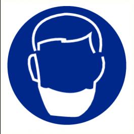 Pictogram baardmasker verplicht 20 mm (sticker)