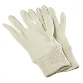 Katoen Keper/Tricot Handschoenen met manchet, kleur ecru (doos 50 x 12 paar)