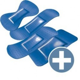 Hekaplast Vingerpleisters Detecteerbaar Assortie, kleur blauw (doosje 100 stuks)