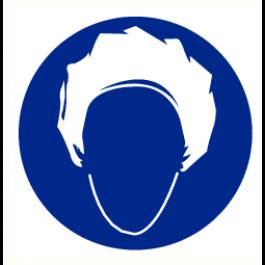 Pict-O-norm Pictogram Haarnet Verplicht 90 mm (sticker)