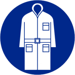 Pict-O-norm Pictogram Bezoekersjas Verplicht 90 mm (sticker)