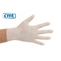 CMT Nitrile onderzoekshandschoenen poedervrij, kleur wit (doos 100 stuks)