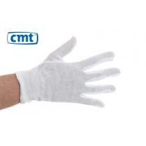 Interlock Handschoenen 100% katoen, wit gebleekt, maat L (pak 12 paar)