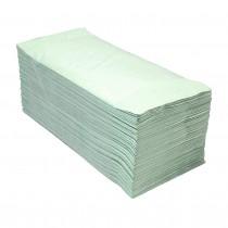 EcoPaper Basic Vouwhanddoeken Z-vouw Groen (doos 20 x 250 stuks)