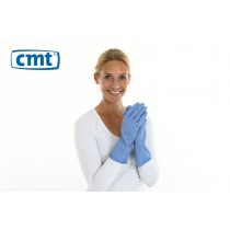 Huishoudhandschoenen, kleur blauw, maat S (pak 12 paar)