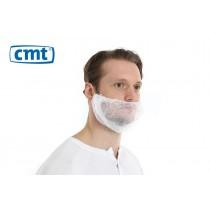 Baardmaskers met hoofdelastiek non-woven, kleur wit (doos 10 x 100 stuks)