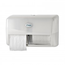 Cleen Pearl Duo-Toiletrolhouder | Compact | kleur wit