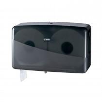 Cleen Pearl Duo-Toiletrolhouder | Mini-Jumbo | kleur zwart