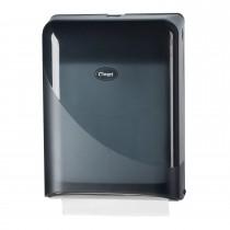 Cleen Pearl Vouwhanddoekdispenser | Interfold & Z-vouw | kleur zwart