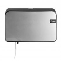 Cleen Quartz Duo-Toiletrolhouder | Coreless | kleur zilver/zwart