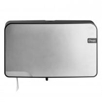 Cleen Quartz Duo-Toiletrolhouder | Mini-Jumbo | kleur zilver/zwart