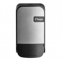 Cleen Quartz Zeepdispenser/Toiletbrilreiniger | Foam | 400 ml | kleur zilver/zwart