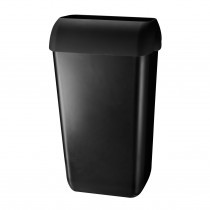 Cleen Wandafvalbak met inworpdeksel | 23 ltr | kleur zwart