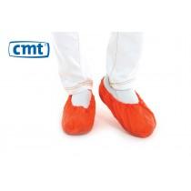 CMT Schoenovertrekken CPE geruwd, kleur rood, maat L (doos 20 x 100 stuks)