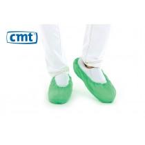 CMT Schoenovertrekken CPE geruwd, kleur groen, maat L (doos 20 x 100 stuks)