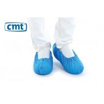 Schoenovertrekken CPE geruwd, kleur blauw, 41 x 15 cm (XL), pak 100 stuks