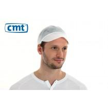 CMT Peaked Caps/Pet met klep, kleur wit, 50 cm (doos 10 x 100 stuks)