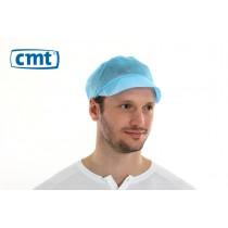 CMT Peaked Caps/Pet met klep, kleur blauw, 50 cm (doos 10 x 100 stuks)