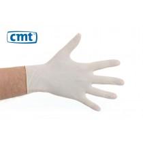 CMT Latex onderzoekshandschoenen poedervrij, kleur wit (doos 100 stuks)