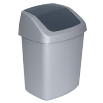 Curver Swingtop Afvalbak 15-25 ltr, kleur zilver/antraciet