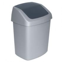 Curver Swingtop Afvalbak 25-35 ltr, kleur zilver/antraciet