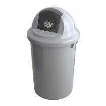 Ronde Afvalbak met pushdeksel en handgrepen 60 ltr