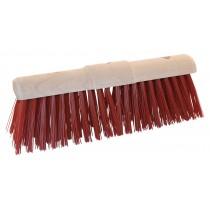 Gemeentebezem PVC ronde kap 45 cm, kleur rood