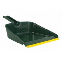 Stofblik groot model 31 x 25 cm (tbv klauwbezem), kleur geel/groen