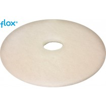 Flox Vloerpad 13 inch (330 mm), kleur wit (doos 5 stuks)