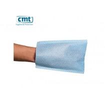 CMT Washandschoenen non-woven, kleur blauw (doos 10 x 100 stuks)