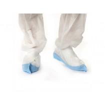 Kolmi Schoenovertrekken Non-Woven PP/PE, kleur wit/blauw, maat universeel (doos 400 stuks)