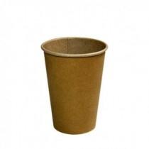 Kartonnen Drinkbeker/Koffiebeker Kraft   inhoud 180 cc (doos 25 x 100 stuks)