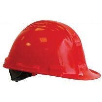 M-Safe veiligheidshelm PE MH6000, verstelbaar 6-punts binnenwerk, kleur rood