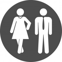 Pictogram Dames & Herentoilet
