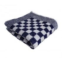 Keukenhanddoek badstof geblokt 60 x 60 cm, kleur blauw/wit (pak 10 stuks)